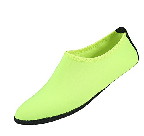 Unisex Water Skin Shoes Quick Dry Aqua Socks Barefoot Shoes for Beach Swin,Diving,Surf Yoga Exercise Green