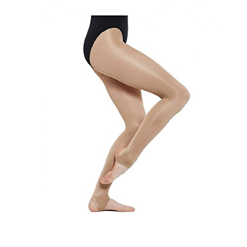 8522b70d91a Silky Girl s 1 Pair Dance Shimmer Stirrup Tights 5-7 Years Light Toast