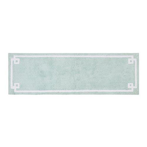 Runner Bath (Madison Park Evan Cotton Tufted Washable Bath Mat, Luxury Solid Bathroom Rugs, 24X72, Seafoam)