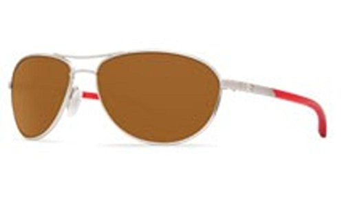 Costa Del Mar KC Polarized Sunglasses Palladium w/Crystal Red Temples/Amber - Costa Sunglasses Kc