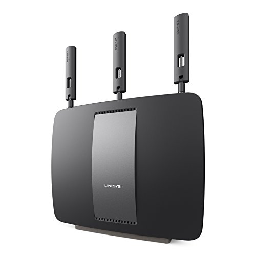 Linksys AC3200 Tri-Band Smart Wi-Fi Router with Gigabit and USB, Designed for Device-Heavy Homes, Smart Wi-Fi App Enabled to Control Your Network from Anywhere (EA9200) by Linksys (Image #1)
