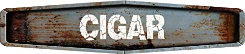 Any and All Graphics Cigar Rustic Weathered Metal Look Diamond Shaped 8