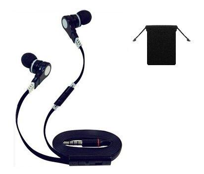 Premium 3.5mm Stereo Handsfree Headset Earbuds Earphones Headphones for Amazon HD 6/ HD 7/ Fire HDX 8.9/ Fire Phone/ Kindle Fire HD 2013/ Kindle Fire HDX 8.9/ Kindle Fire HD 8.9/ Kindle Fire HD 8.9 4G LTE/ 7 (Black) + Carry Bag