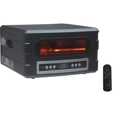 Fangio Lighting HEAT SERVE Transitional ATI/Advance Tech Infrared Vortex Heater, Black