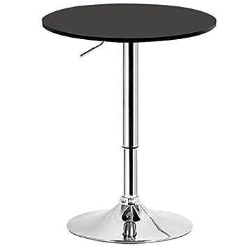 Woltu Bt02sz Table De Bar En Mdf Pied Table Ronde Design Hauteur