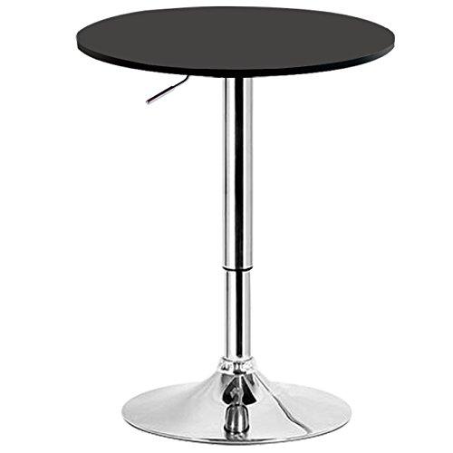 woltu bt02sz table de bar en mdf avec piedtable ronde design hauteur rglable - Pied Table De Bar