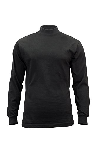 Mock Turtleneck-black, L - Turtleneck Running Mock