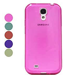 Pure Color Transparent Hard Case for Samsung Galaxy S4 I9500 (Assorted Color) --- COLOR:Blue