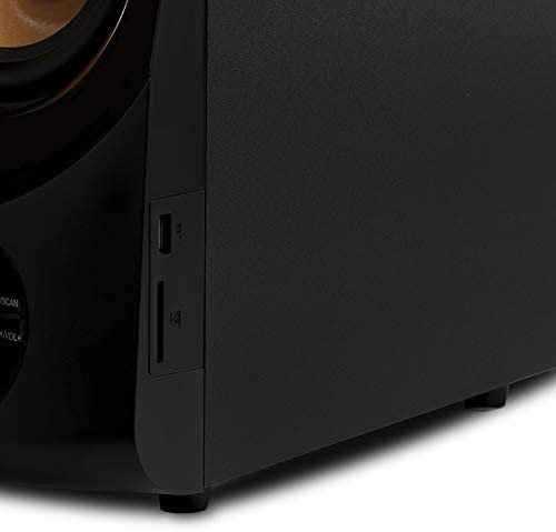 Acoustic Audio by Goldwood Bluetooth 2.1 Speaker System 2.1-Channel Home Theater Speaker System, Black (AA2170) 31lCiXtuMdL