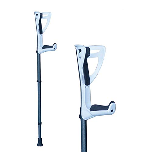 Underarm Crutch Walking Forearm Crutches for Adults and Youth,Adjustable Lightweight Ergonomic Handle with Comfy Grip,High Density Sturdy Aluminum,White