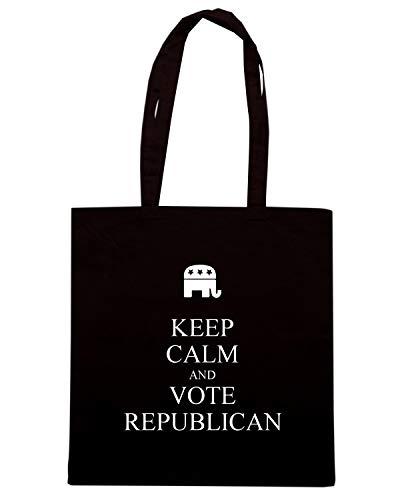 Tkc1490 Keep Speed Vote And Shopper Republican Shirt Borsa Nera Calm FnSvwISqX