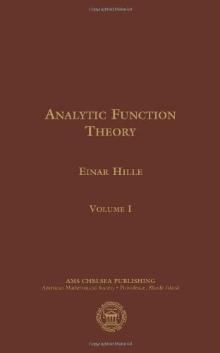 Analytic Function Theory, Volume I (Ams Chelsea Publishing)