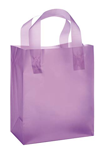 Frosted Plastic Case - Lavender Frosted Plastic Shopping Bags - (8