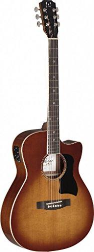 James Neligan BES-ACE DCB Bessie Series Auditorium Cutaway Acoustic-Electric Guitar - Dark Cherryburst