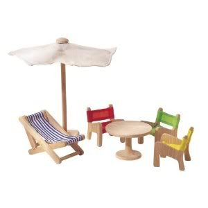 Terrific Bright Plan Toy Doll House Patio Furniture With Three Pabps2019 Chair Design Images Pabps2019Com