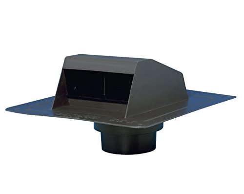 Duraflo 6013BL Roof Dryer Vent Flap, Black (Shingle Flat Roof)