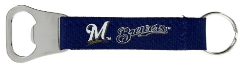 aminco MLB Milwaukee Brewers Bottle Opener Lanyard Key Ring