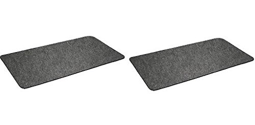 "Montana Grilling Gear Premium Grill Mat by for Gas or Electric Grill – Use this Absorbent Grill Pad Floor Mat to Protect Decks and Patios from Grease Splatter and Other Messes – 30"" X 48"" (2)"