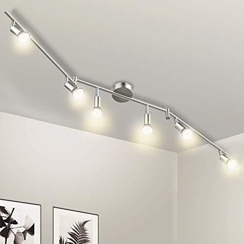 Wowatt plafondspot LED 6 lichts plafondlamp keuken plafondlamp Incl. 6x 5W spots GU10 420lm draaibare woonkamer hal…