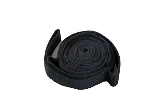 7Ft. Multi Grip Yoga and Pilates Stretching Exercise Strap by Trademark Innovations (Black)