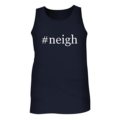 #Neigh - Men's Hashtag Adult Tank Top, Navy, X-Large
