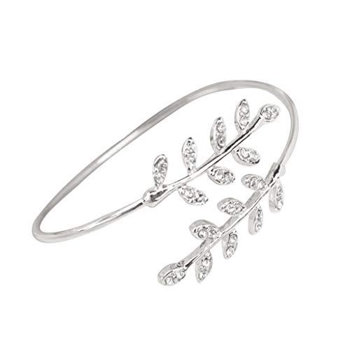 Toponly Adjustable Diamond Bracelet Fresh Leaf Temperament Minimalist Jewelry