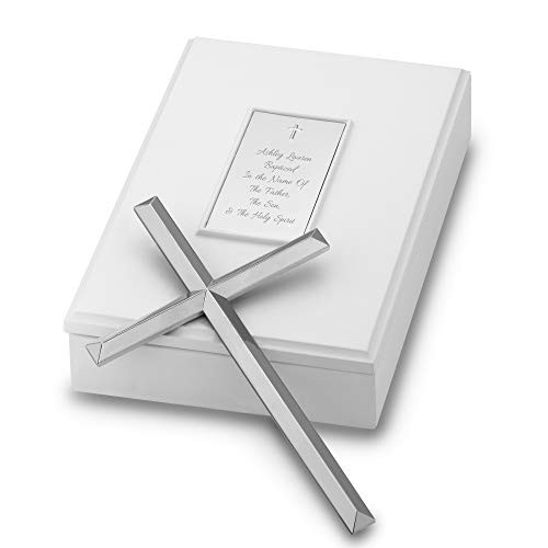 Things Remembered Personalized Simple Wall Cross in Keepsake Box with Engraving Included