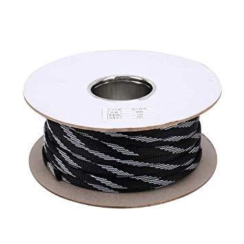 Uniqus 100m Car Nylon Weave Audio Cable Predective Cover(Black)