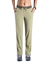 Jessie Kidden Women's Outdoor Quick Dry Cargo Pants Convertible Hiking Camping Fishing Stretch Trousers #6060,Khaki,34