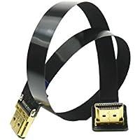 BLACK 20CM FPV HDMI Cable Standard HDMI male Interface to Standard HDMI male Interface 90 degree for RED BMCC FS7 C300