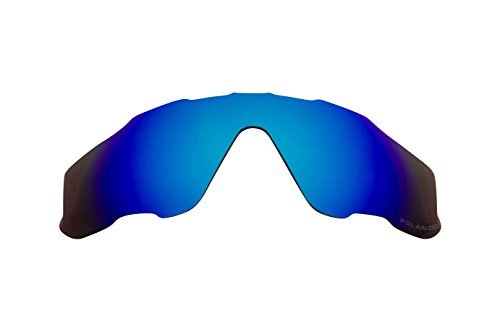 Replacement Lenses Compatible with OAKLEY JAWBREAKER Polarized Ice Blue Mirror