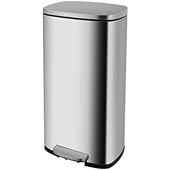 Amazon.com: HEMBOR - Papelera rectangular de acero ...