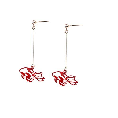Cathy Clara Creative Jewelry Goldfish Tassel Earrings Koi Ladies Earrings Jewelry Gift for Women Girl Earrings Valentine Birthday