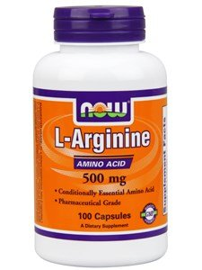 Now Foods L-Arginine 500 mg - 100 Caps 12 Pack by NOW