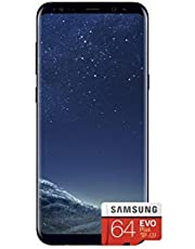 Samsung Galaxy S8 Single SIM 64GB 5.8-Inch Android UK Version Sim-Free Smartphone with 64GB MicroSDXC EVO Plus Memory Card