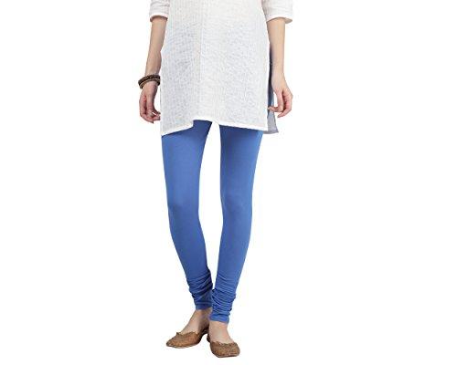 Srishti By FBB Women's Cotton Solid Churidar Leggings (Wk 8 19_12028, Neon Royal, Small)