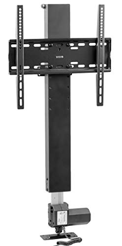VIVO Black Compact Motorized Vertical Television Stand Lift for Screens 32