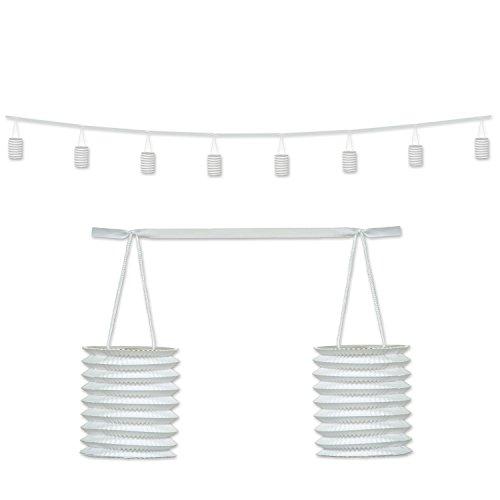 Beistle Lantern Garland, 12-Feet, White