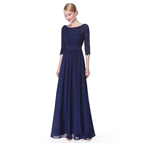 Discount Ever Pretty Women\'s Lace Long Sleeve Floor Length Evening Dress 08412 free shipping GclSD4XD