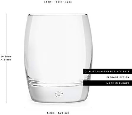 Libbey Vasos Para Whisky Gles - 360 ml / 36 cl - 6 Piezas - Diseño Lujoso - Apto Para Lavavajillas