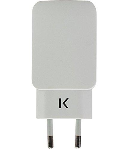 The Kase Paris Cargador USB Doble Universal Color Blanco ...