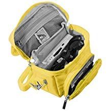 Orzly Travel Bag for Nintendo DS Consoles (New 2DS XL / 3DS / 3DS XL / New 3DS / New 3DS XL / Original DS / DS Lite / DSi / etc.) - Includes Belt Loop, Carry Handle, Shoulder Strap - YELLOW (Xl Backpack Nintendo 3ds)