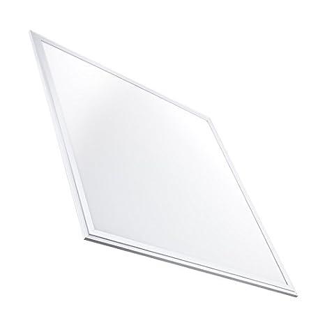 Panel LED Slim 60x60cm 40W 3200lm Marco Blanco Blanco Frío 6000k ...