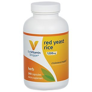Red Yeast Rice 1200mg, Supports Cholesterol Cardiovascular Health Supports a Healthy Heart, Gluten Free, Dairy Free 240 Capsules by The Vitamin Shoppe