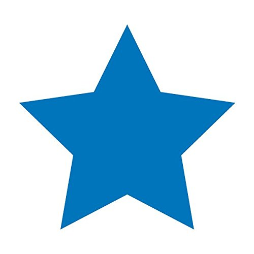 Star Five Point Shape Polygon - Vinyl Decal for Outdoor Use on Cars, ATV, Boats, Windows and More - Sky Blue 11 inch
