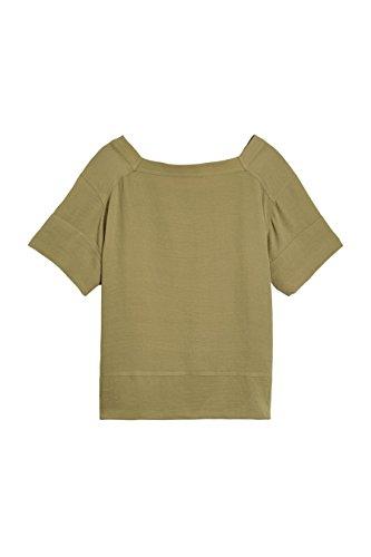 next Mujer Camiseta Versátil Corte Regular Top Ropa Caqui