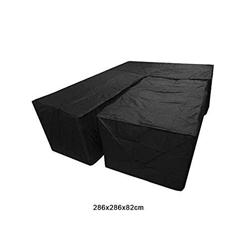 Bulary 2PCS Waterproof L Shape Dust Cover Cube Corner Furniture Sofa Rattan Cover for Outdoor Garden (Rattan Furniture Cube)