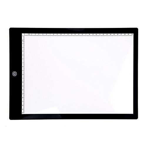 Alloet Ultra Slim Acrylic Light Box Touch LED Tracing Art Artist Graphic Pad Copy Board A4 Size 3 Level of Brightness by Alloet