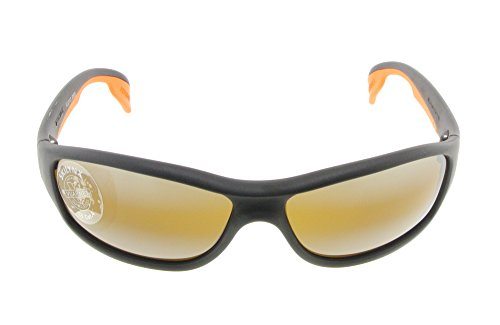 Vuarnet VL 0113 0003 7184 Black / Orange with Brown Skilynx - Nylon Vuarnet Sunglasses