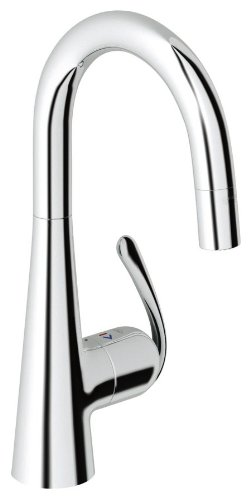 Grohe 32 283 00E Ladylux3 Pro Water Care Prep Sink Dual Spray Pull-Down Kitchen Faucet, Starlight Chrome